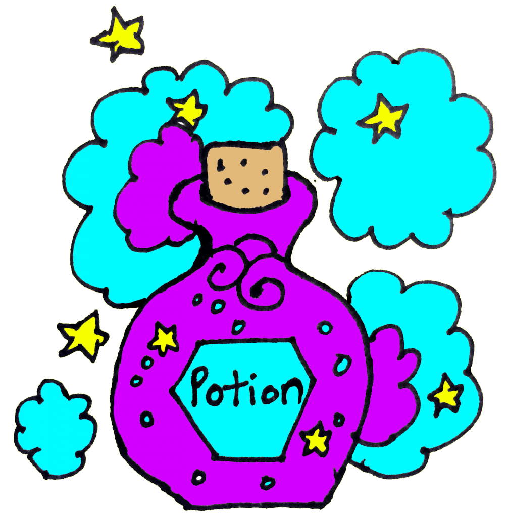 magic potion in color